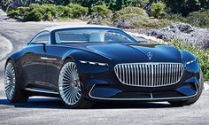At this year's gathering of the most magnificent classic cars at Pebble Beach in California, Mercedes-Benz is once again set to present a highlight: the Vision Mercedes-Maybach 6 Cabriolet. Mercedes Benz Maybach, Benz Car, Maybach Coupe, Mercedes Sport, Bmw Sedan, Roadster, Cabriolet, Pebble Beach, Sexy Cars