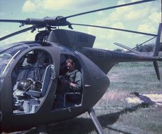 """US Army Hughes OH-6 Cayuse or """"Loach"""", 1968  #VietnamMemories"""