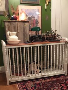 double size dog crate from a old crib Baby Crib Sets, Baby Cribs, Dog Crate Furniture, Steel Furniture, Furniture Stores, Old Cribs, Diy Dog Crate, Ikea, Dog Area