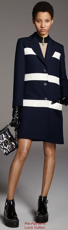 Louis Vuitton pre fall 2016 striped coat