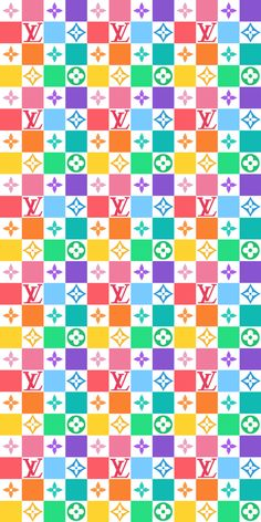 Louis Vuitton Iphone Wallpaper, Pink Wallpaper Iphone, Trendy Wallpaper, Cute Wallpaper Backgrounds, Pretty Wallpapers, Cellphone Wallpaper, Cool Wallpaper, Pattern Wallpaper, Rainbow Wallpaper
