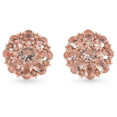 Carolee Rose Gold Pocket Park Cluster Button Earrings