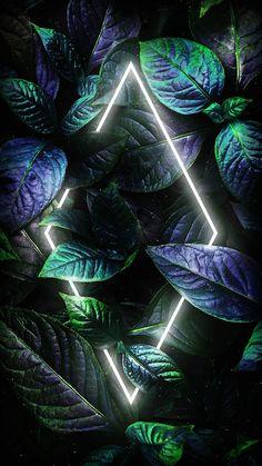 Neon Dark Foliage Nature - iPhone Wallpapers
