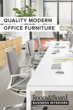 Connect with our Project Coordinators to help plan for a safe return to work with quality modern office furniture. Commercial Office Furniture, Selling Design, Commercial Interiors, Dining Table, Retail Space, Modern Spaces, Storage, Connect, Room
