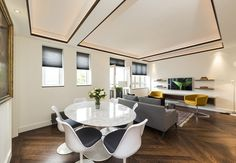 The apartment in an exclusive area of London is being marketed as'a highly sought-after location which hosts an array of local amenities as well as upmarket shops, bars and restaurants'