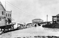 Woodland Beach's location made it a prime target for yet another storm. This winter nor'easter in 1914 truly finished what the 1878 storm did not, and nearly every building in town was damaged or destroyed. Woodland Beach never quite recovered. Lewes Delaware, Sussex County, Rehoboth Beach, Beach Scenes, Woodland, The Neighbourhood, Street View, Vacation, Places