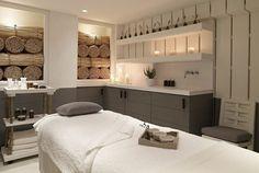 Love this spa treatment room look. The Berkeley Hotel London launches Bamford Haybarn Spa