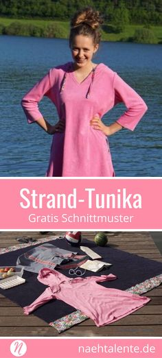 Kostenloses Schnittmuster für eine Strandtunika für Damen. PDF-Schnitt zum Drucken in S, M und L. ✂ Nähtalente.de - Magazin für kostenlose Schnittmuster und Hobbyschneiderinnen ✂ Free sewing pattern for a woman beach Tunichtgut. PDF-sewing pattern for print at home in size S, M and L. ✂ Nähtalente.de - Magazin for sewing and free sewing patterns ✂ #nähen #freebook #schnittmuster #gratis #nähenmachtglücklich #freesewingpattern #handmade #diy