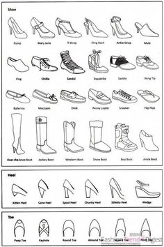 Fashion infographic: shoes Informations About 25 + › Mode-Infografik: Schuhe Pi Fashion Terminology, Fashion Terms, Trendy Fashion, Fashion Spring, Fashion Kids, White Fashion, Fashion Fashion, Fashion 2018, Classy Fashion