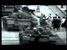 Tank confrontation of late 1961 at Checkpoint Charlie, Berlin.  Berlin Crisis of 1961
