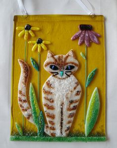flutterbybutterfly on www.flutterbyfoto.com: Fused Glass Cat