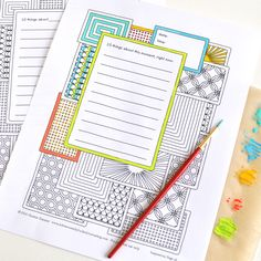 Journaling With Lists (and a new printable journal page)  Adventures in Guided Journaling