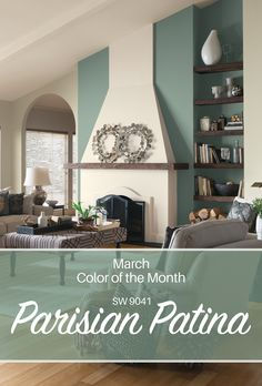 Sherwin-Williams' March Color of of the Month: Parisian Patina SW 9041.