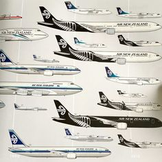 Air New Zealand 75 aircraft through the years