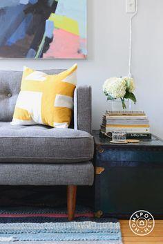 A Living Room Revamp: ScoutSixteen x West Elm x Homepolish - @Homepolish New York City