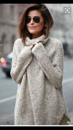 Comfy & Cozy oversized cream waffle sweater. Stitch Fix Fall & Winter Fashion.