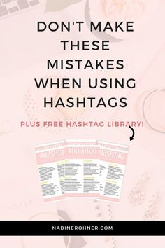 Don't make these mistakes when using hashtags // Nadine Rohner - Tap the link now to Learn how I made it to 1 million in sales in 5 months with e-commerce! I'll give you the 3 advertising phases I did to make it for FREE! Instagram Marketing Tips, Instagram Tips, Instagram Hashtag, Instagram Design, Social Media Content, Social Media Tips, Online Marketing, Social Media Marketing, Marketing Strategies