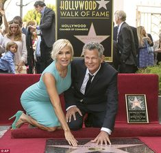 An honour: Songwriter and producer David Foster, with Bravo star and wife Yolanda Foster, was awarded a star on the Hollywood Walk of Fame