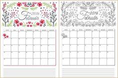 Februári nyomtathatók Papírműhelytől: falinaptár színezhető változatban is, tennivalólista, családi tervező