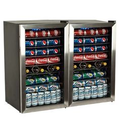Buy the EdgeStar undefined undefined Direct. Shop for the EdgeStar undefined undefined 206 Can and 10 Bottle Side-by-Side Beverage Coolers with Ultra Low Temp Cooling and save. Coca Cola, Pepsi, Cold Drinks, Beverages, Cooler Reviews, Coolers For Sale, Beverage Refrigerator, Wine Storage, Small Appliances
