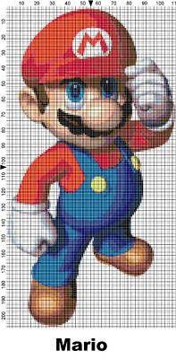 mario cross stitch pattern