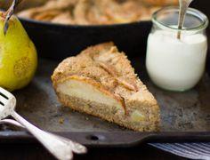 (Gluten-Free) Chai-Spiced Pear Skillet Cake - The Bojon Gourmet