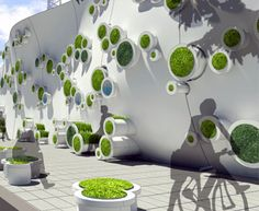 The Symbiotic Green Wall is an urban ecosystem designed to help buffer, protect and revitalize construction areas.