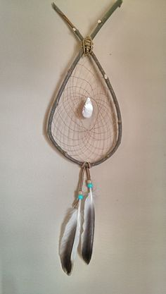 Authentic, Ojibwa Made Willow Dreamcatcher. Beach Dreams, Dream catcher! Perfect for the lakehouse