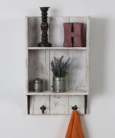 Look at this #zulilyfind! White Bathroom Shelf #zulilyfinds