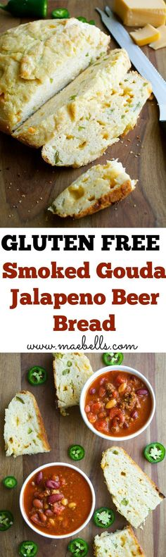 This Smoked Gouda and Jalapeo Beer bread is the best gluten free bread yet! Full of spicy jalapeo and smokey gouda, you will wonder how you ever lived without it!