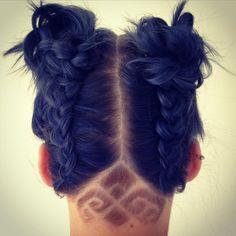 #ibizahair #festivalhair #festival #ibiza #bluehair #hairup #braids #plait #plaits #undercut x