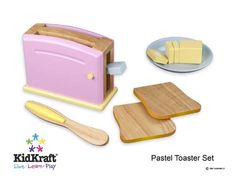 New Classic toys vleugel Kinderpiano zwart - SpeelgoedFamilie. Wooden Play Food, Wooden Toys, Play Kitchen Accessories, Pretend Play Kitchen, Play Food Set, Sam And Libby, Toy Kitchen, Classic Toys, Toaster