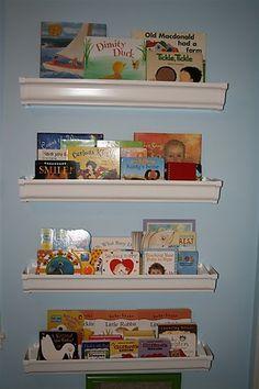 Rain Gutter Bookshelf