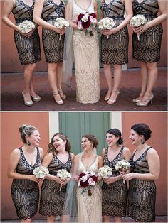 Vintage bridesmaid looks @weddingchicks
