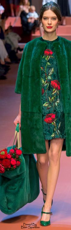 Fall 2015 RTW Dolce & Gabbana green