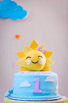 Sunshine Cake From A You Are My Birthday Party On Karas Ideas