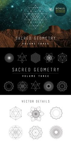 Sacred Geometry Vector Set Vol. 3 by skyboxcreative #geometry #designtools