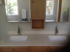 Axor Starck Single Hole Faucet in Brushed Nickel in the Master Bath.