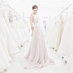 Our beautiful gowns are back home in New York after a wonderful visit to Jin Wang bridal in San Francisco #samuellecouture #bohobride