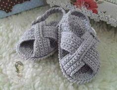 Sandalias bebé crochet