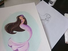 Amazing! Beautiful...pregnant mermaid. Great for Victoria since she is pregnant and loves mermaids. Takes a Liana Hee mermaid to the next level