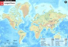 Worldriver map shows the major rivers and lakes around the world buy world top ten longest rivers map from store mapsofworld available in ai eps jpg and pdf format which is editable and can be customized gumiabroncs Gallery