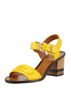 Monday, April 29th: Fendi Lizard-Stamped Penny Low Heel Sandal, 212 872 8940
