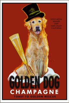 Golden Retriever Club of Greater Los Angeles Rescue Golden Retriever Art, Golden Retrievers, I Love Dogs, Puppy Love, Dogs And Puppies, Doggies, Champagne Taste, Therapy Dogs, Golden Dog