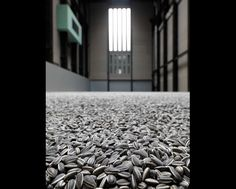 "Ai Weiwei, ""Sunflower Seeds"" (2010) - 100 million ceramic sunflower seeds were individually handcrafted and painted by 600 Chinese porcelain artists in the course of two years."