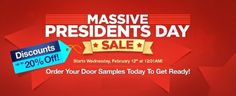 Our Massive President's Day Sale starts on Wednesday, February 12th at 12:01am! Visit our website: http://www.thertastore.com/