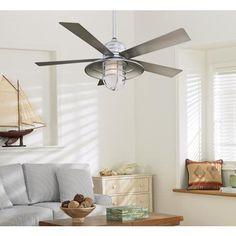 galvanized industrial style ceiling fan