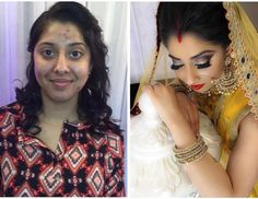 Prior to each event we discuss our clients envision for their grand day. A core aspect is ensuring our client has flawless coverage when it comes to their application. Each individual has different preferences when it comes to the coverage of their foundation therefore it is crucial to understand the different applications. Here is a before and after of the transformation of our former bride Harinder.  _______________________________________________________  Snapchat: sapphiredoll8 & mon_b8…