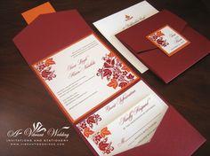 Love this!  Fall wedding invitation
