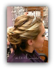 Formal Style by The Curl Specialist. #formalstyle #updo #prom #weddinghair #curls #thecurlspecialist #texture Follow The Curl Specialist on Face Book!  https://www.facebook.com/TheCurlSpecialist?ref=hl